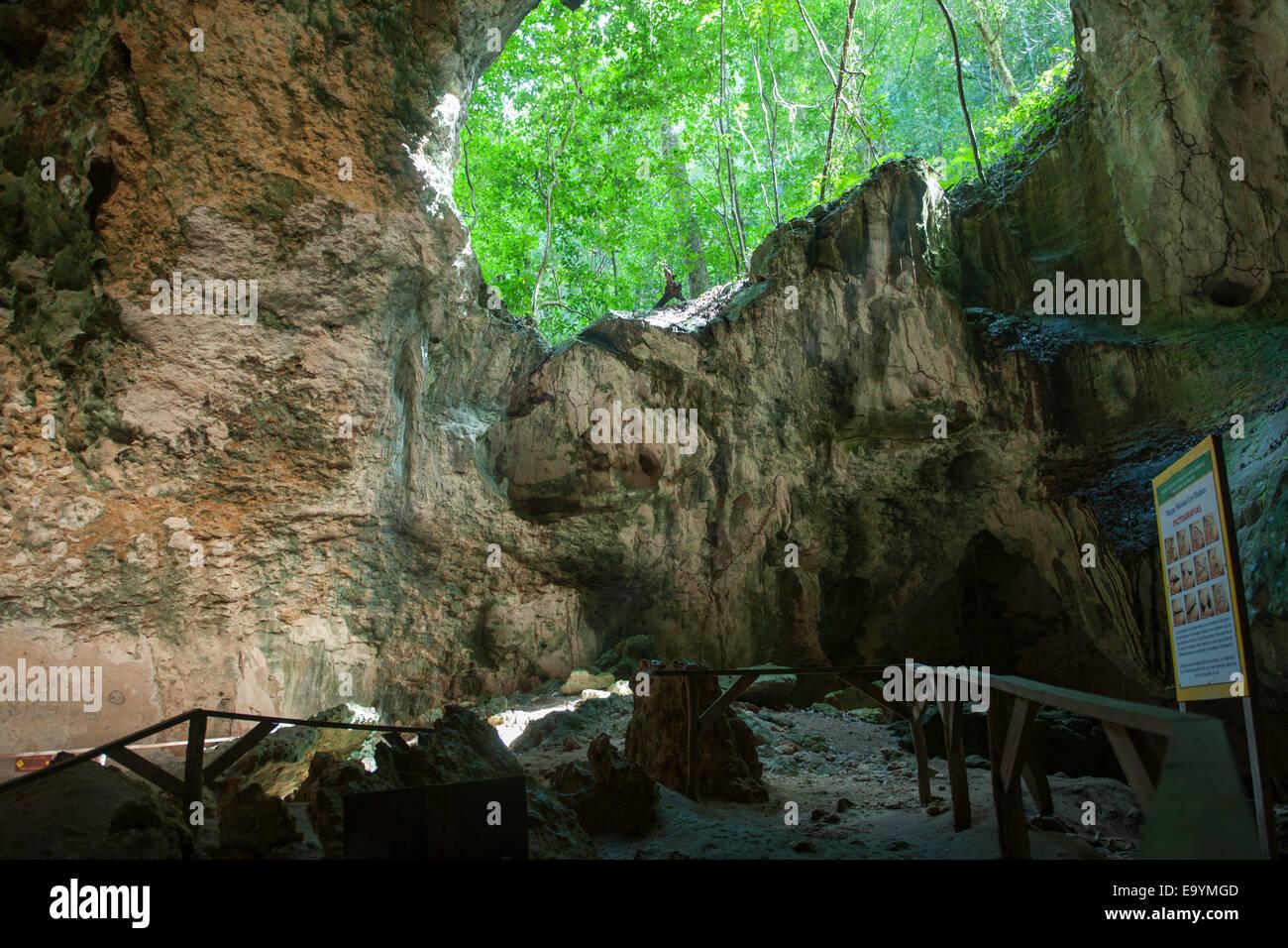 Dominikanische Republik, Osten, Sabana de la Mar, Nationalpark Los Haitises, Cueva de la Linea - Stock Image