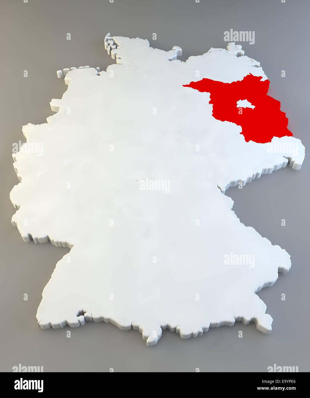 germany map with regions texture stock image