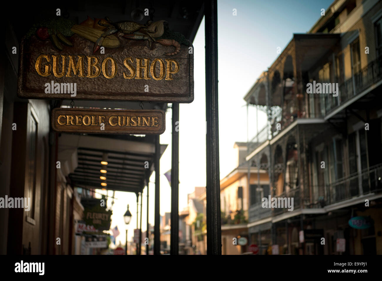 Gumbo shop. French Quarter. New Orleans, Louisiana - Stock Image