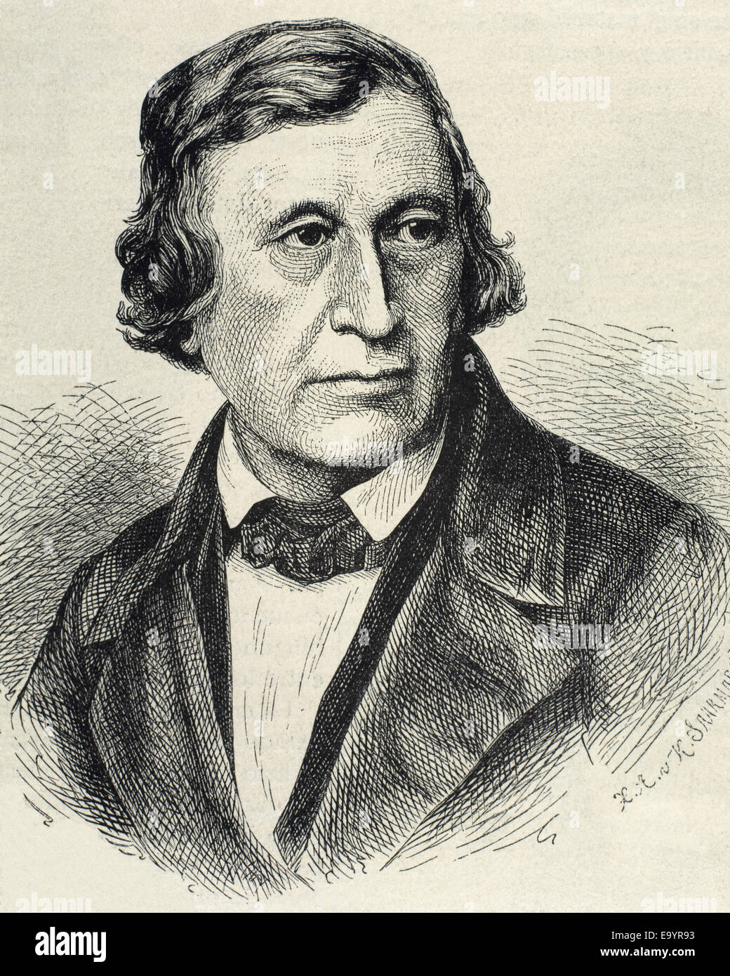 Wilhelm Grimm (1786-1859). German author, the younger of the Brothers