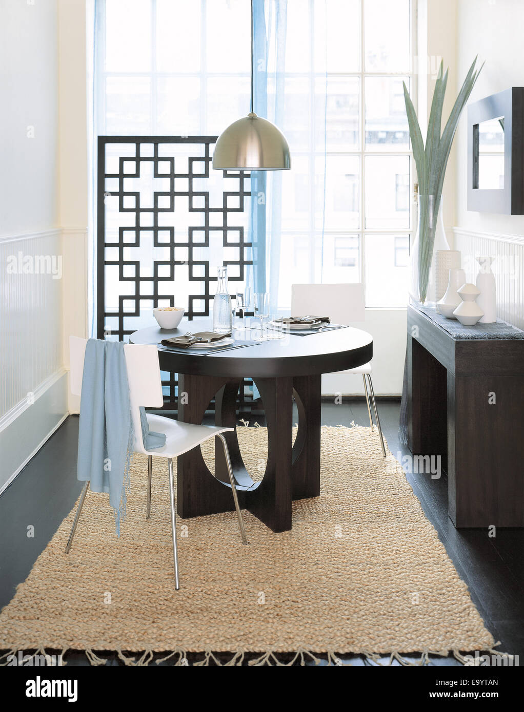 Dining Room In City - Stock Image