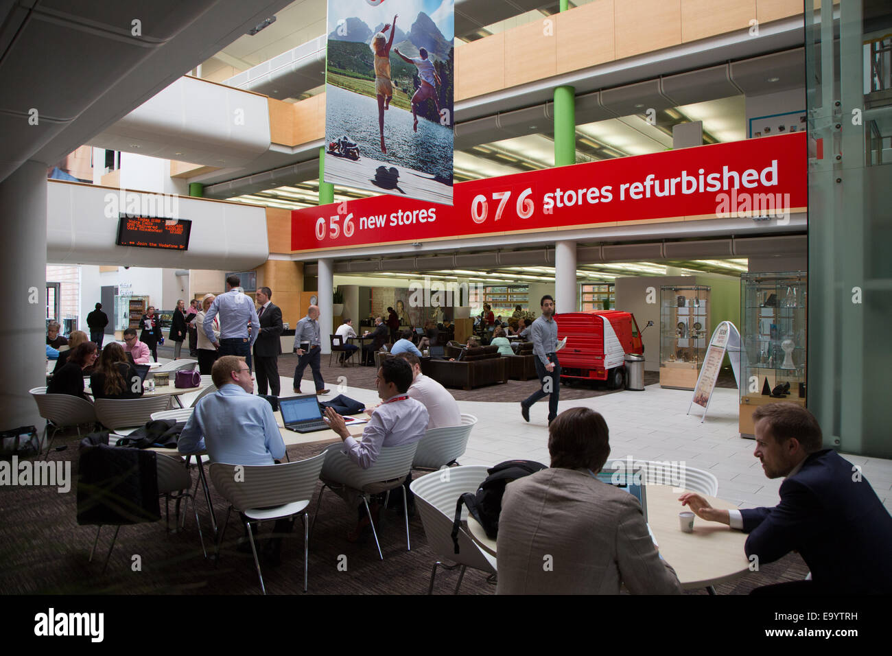 Vodafone House, the headquarters of the Global Division called Vodafone Group plc. in Berkshire. Pictures taken - Stock Image