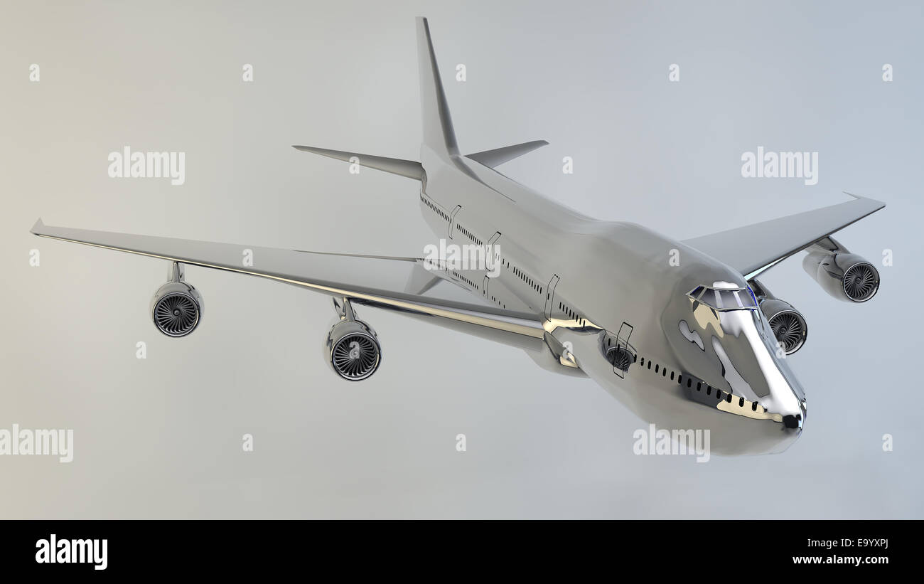 Vector airplane boeing 747 - Stock Image