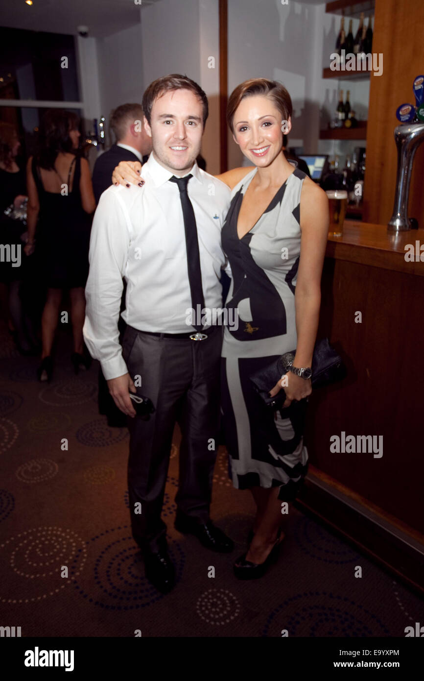 Alan Halsall and Lucy Jo-Hudson - Stock Image