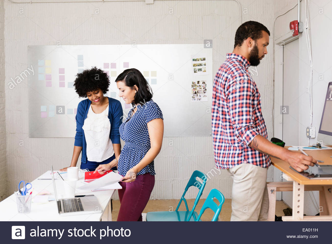 People in office of Small Business, Start-up - Stock Image