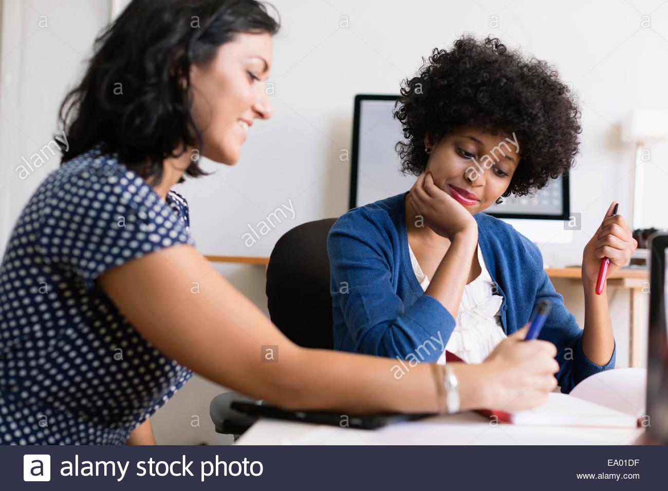Female colleagues in Small Business, Start-up - Stock Image