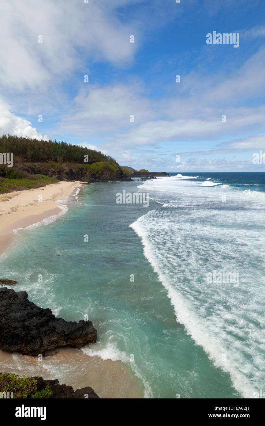 Le Gris Gris beach at the southernmost point, Mauritius - Stock Image
