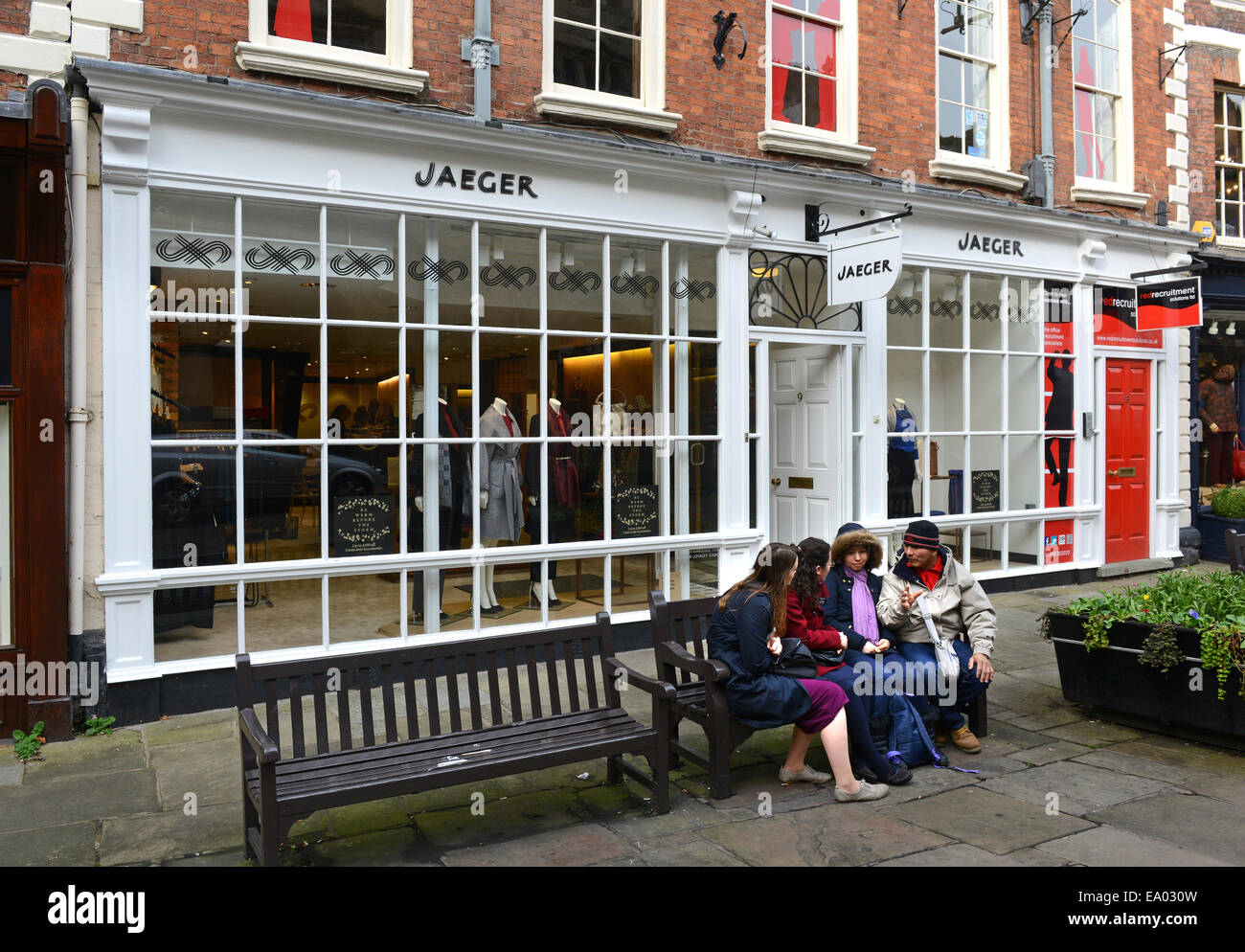 Jaeger shop shops store stores Shrewsbury Uk - Stock Image
