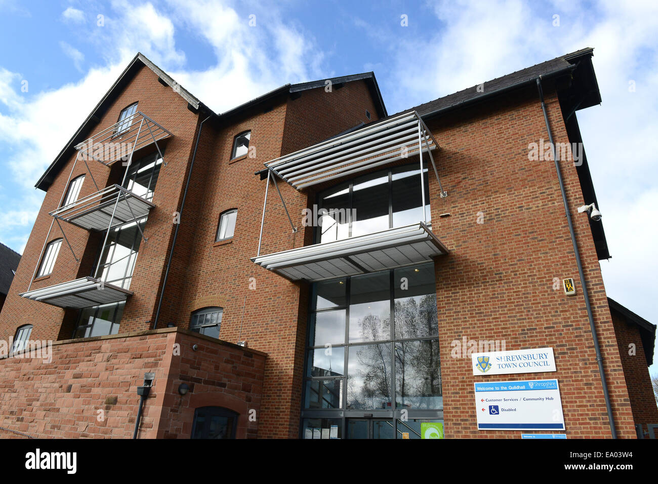 The Guildhall Shrewsbury Town Council offices in Frankwell Quay, Shrewsbury - Stock Image