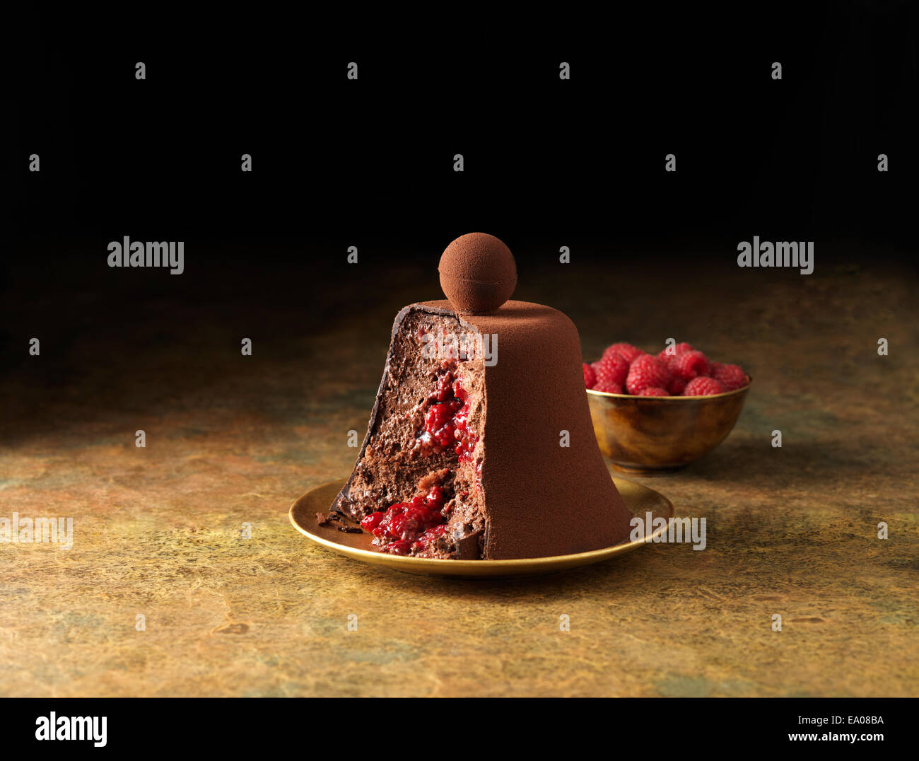 Chocolate mousse dessert - Stock Image
