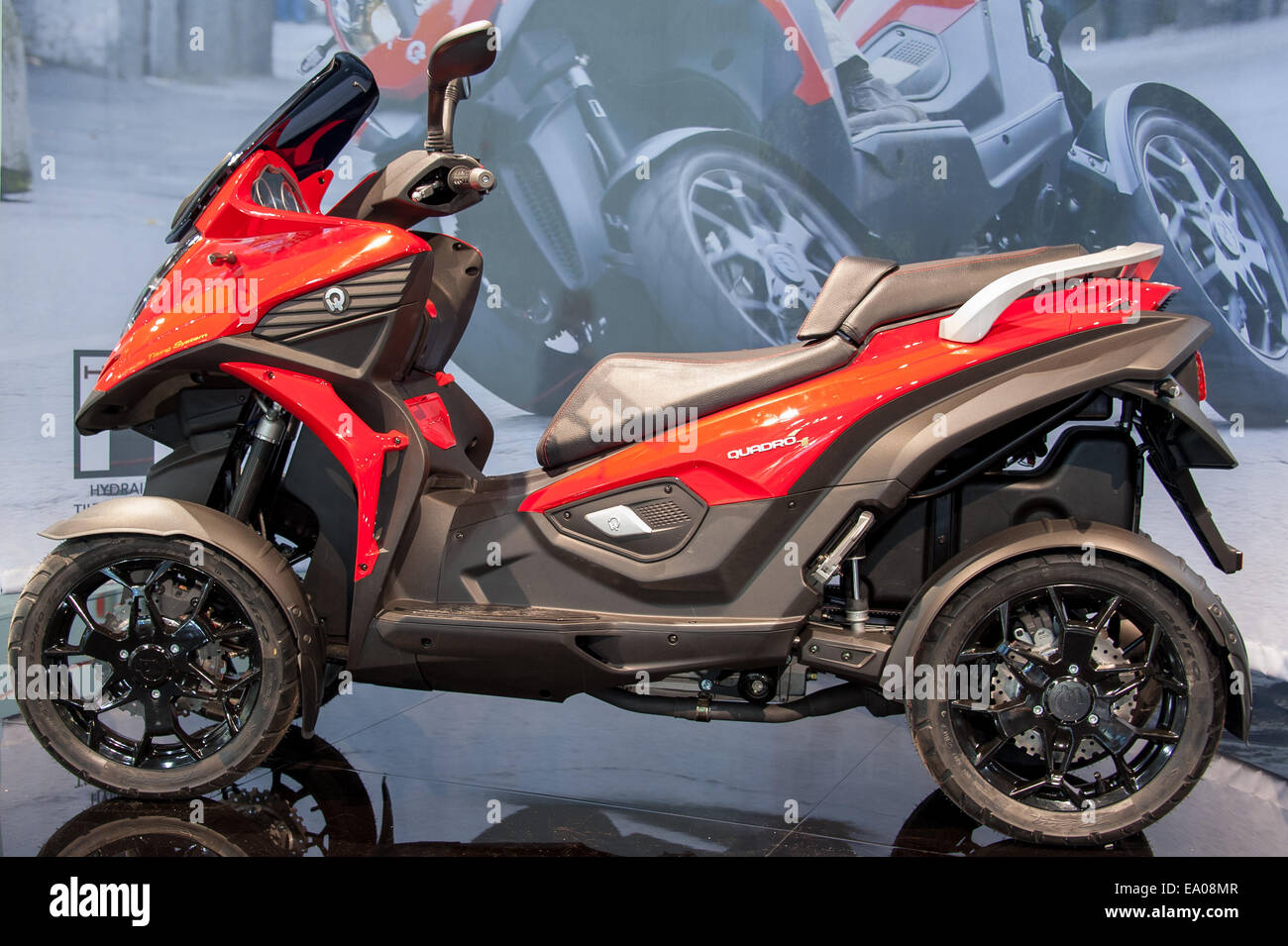 Milan (Italy), Tuesday 4th November 2014 - In the first day of the Eicma bike show, Quadro presented its Quadro4 - Stock Image