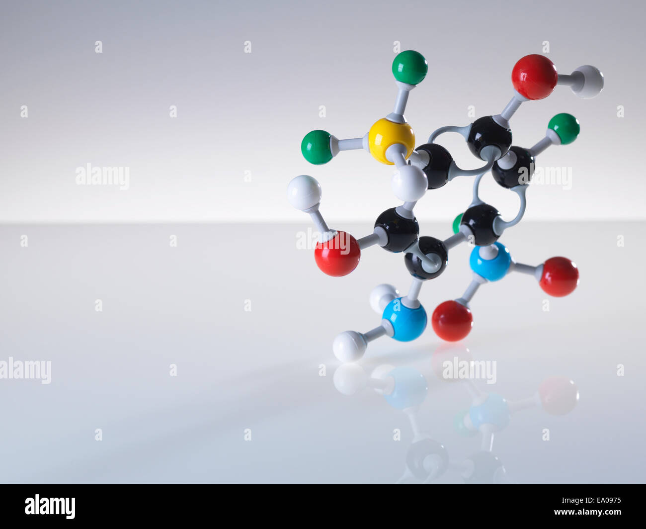 Molecular model - Stock Image