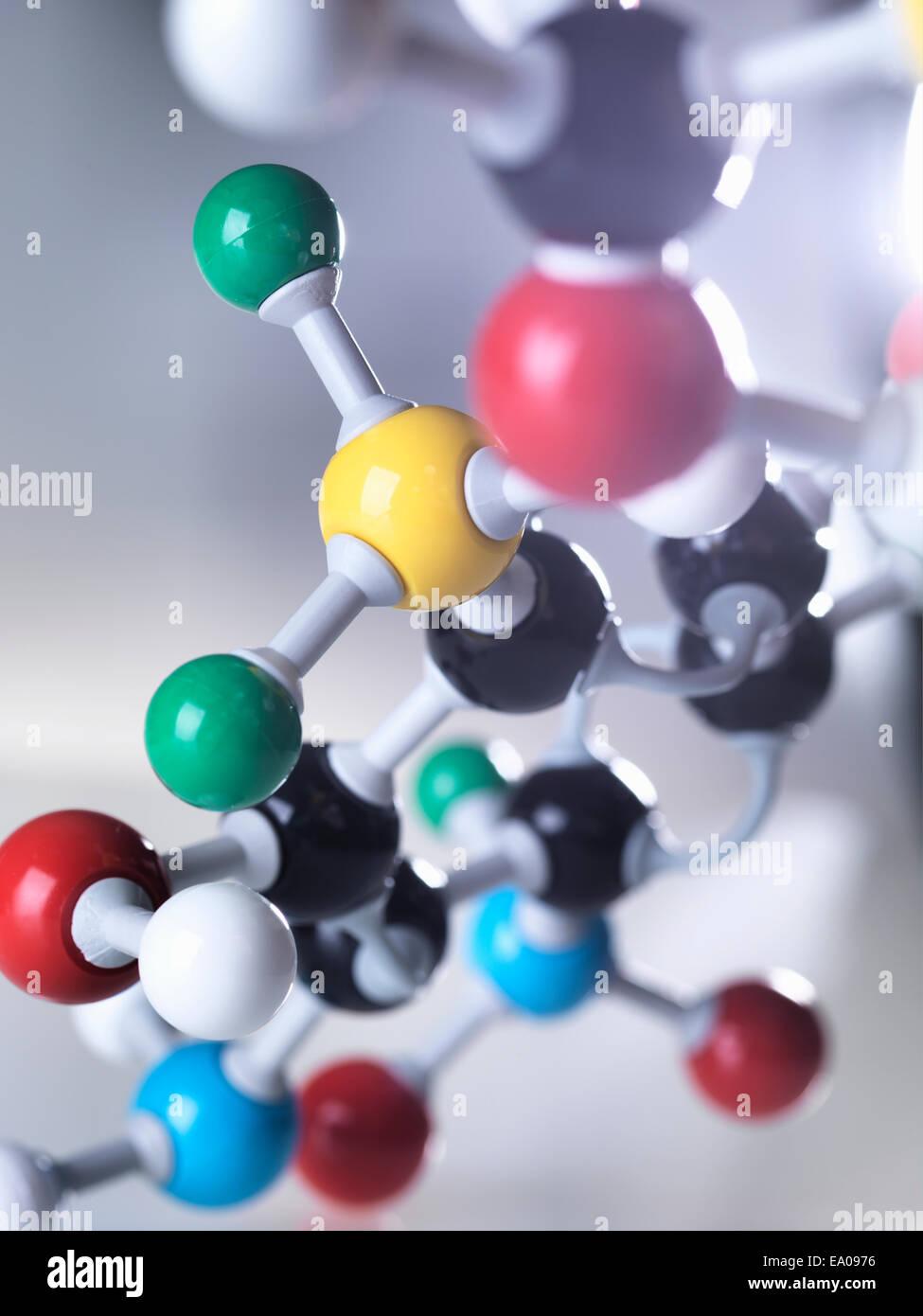 Molecular model - Stock Image