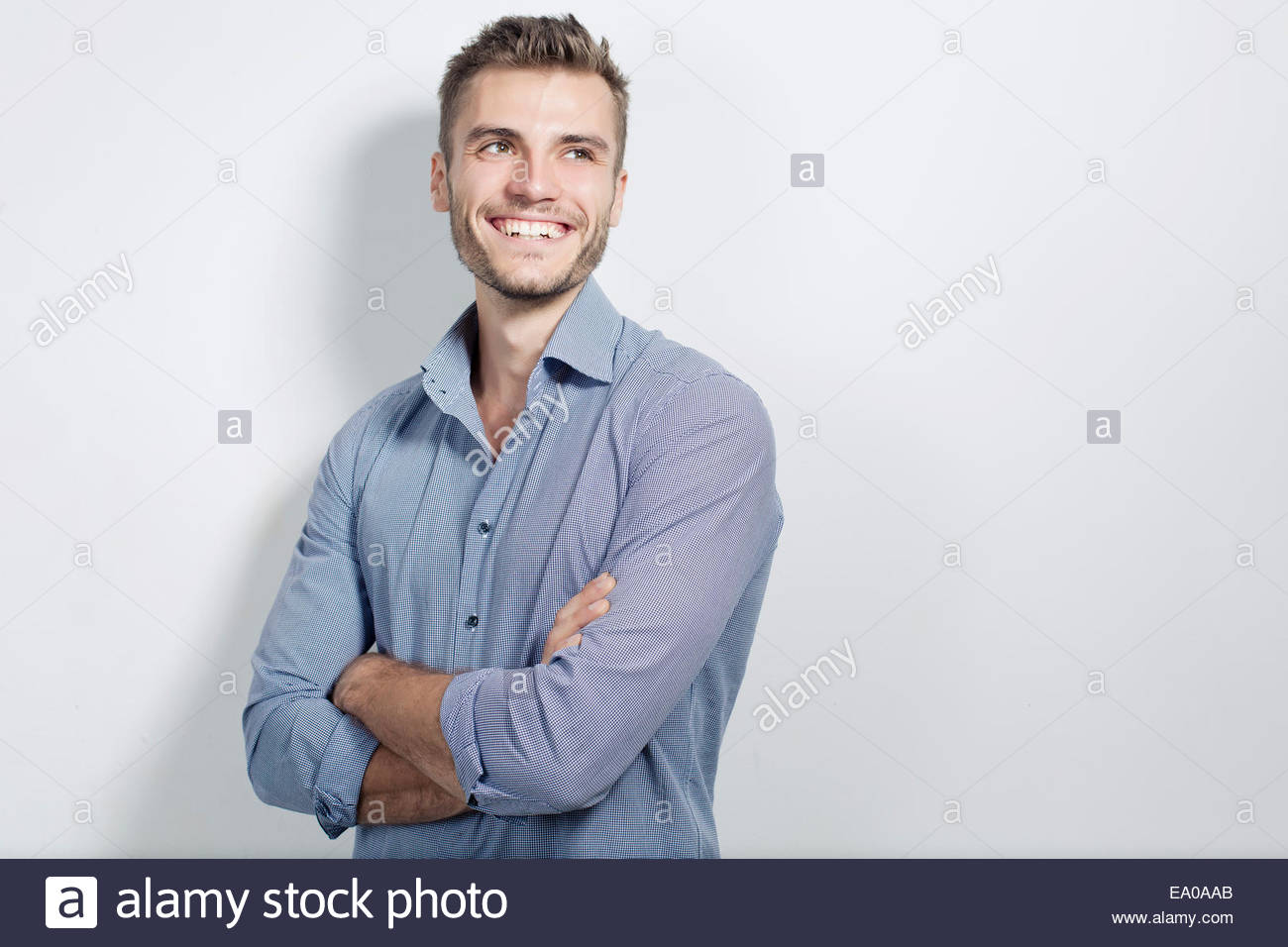 Portrait of young businessman - Stock Image