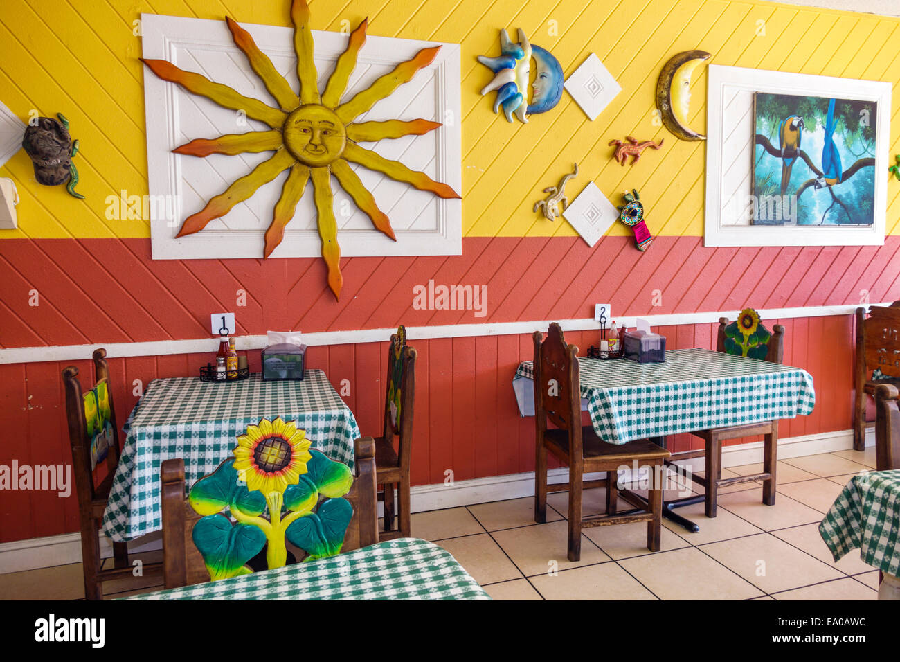 Florida Indiantown Cafe Los Amigos Mexicana Restaurant Mexican Inside  Interior Decor Tables Chairs