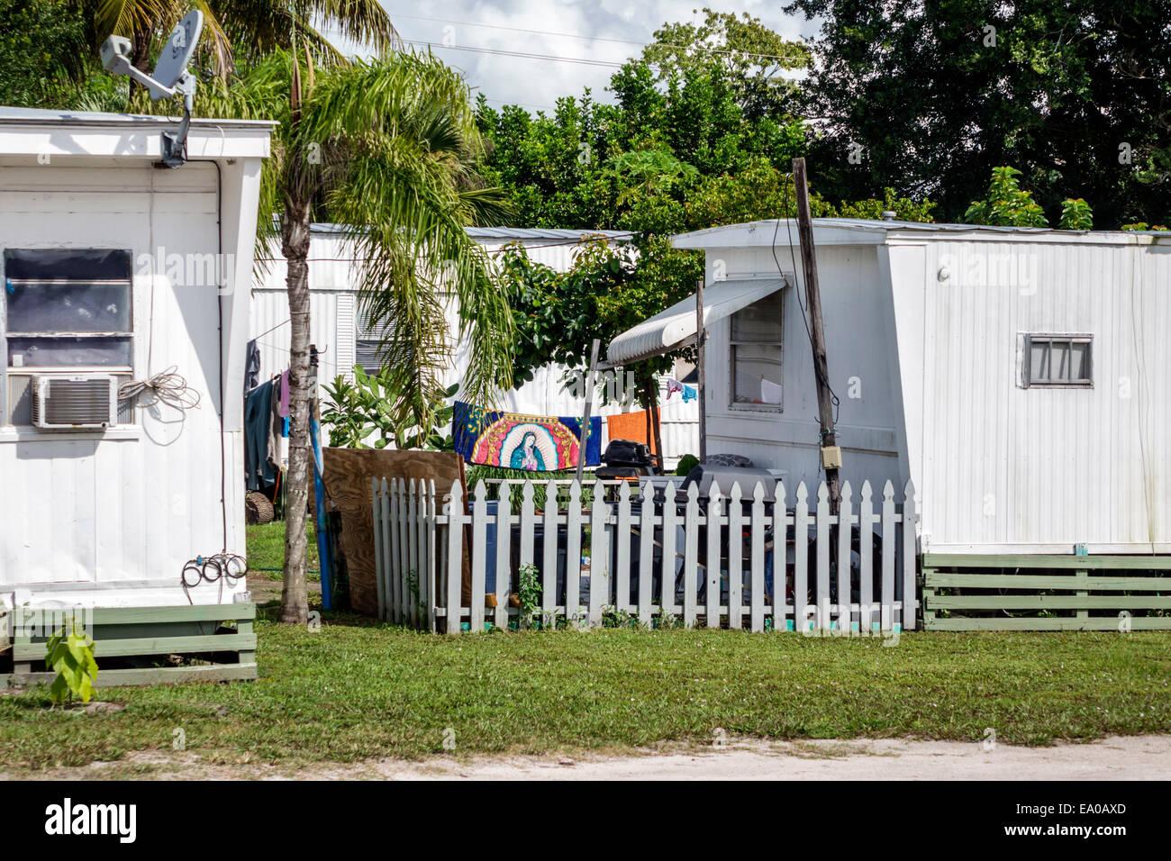 Florida Indiantown trailer park Stock Photo