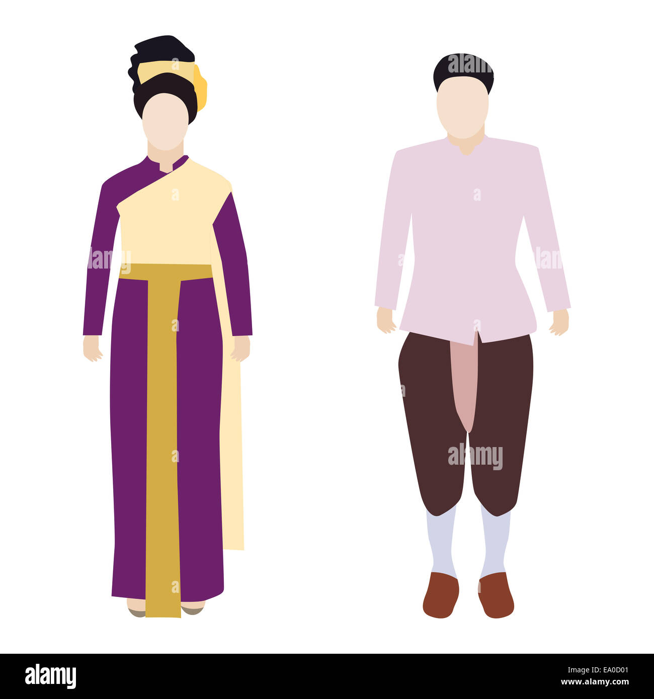 44677dd08 Illustration Thailand traditional costume Stock Photo: 74998225 - Alamy