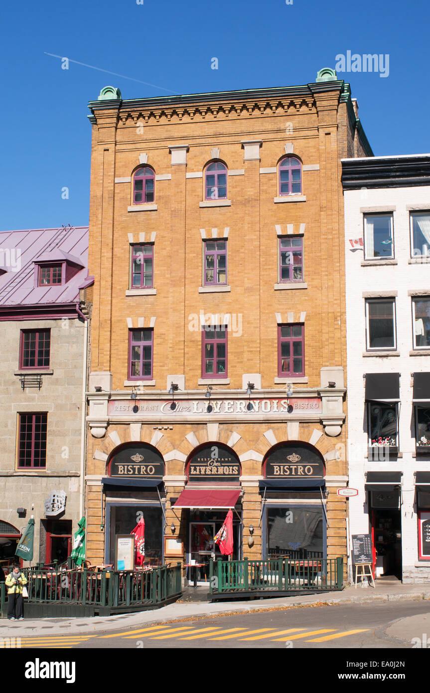 Bistro Chez Livernois Quebec City, Quebec, Canada - Stock Image