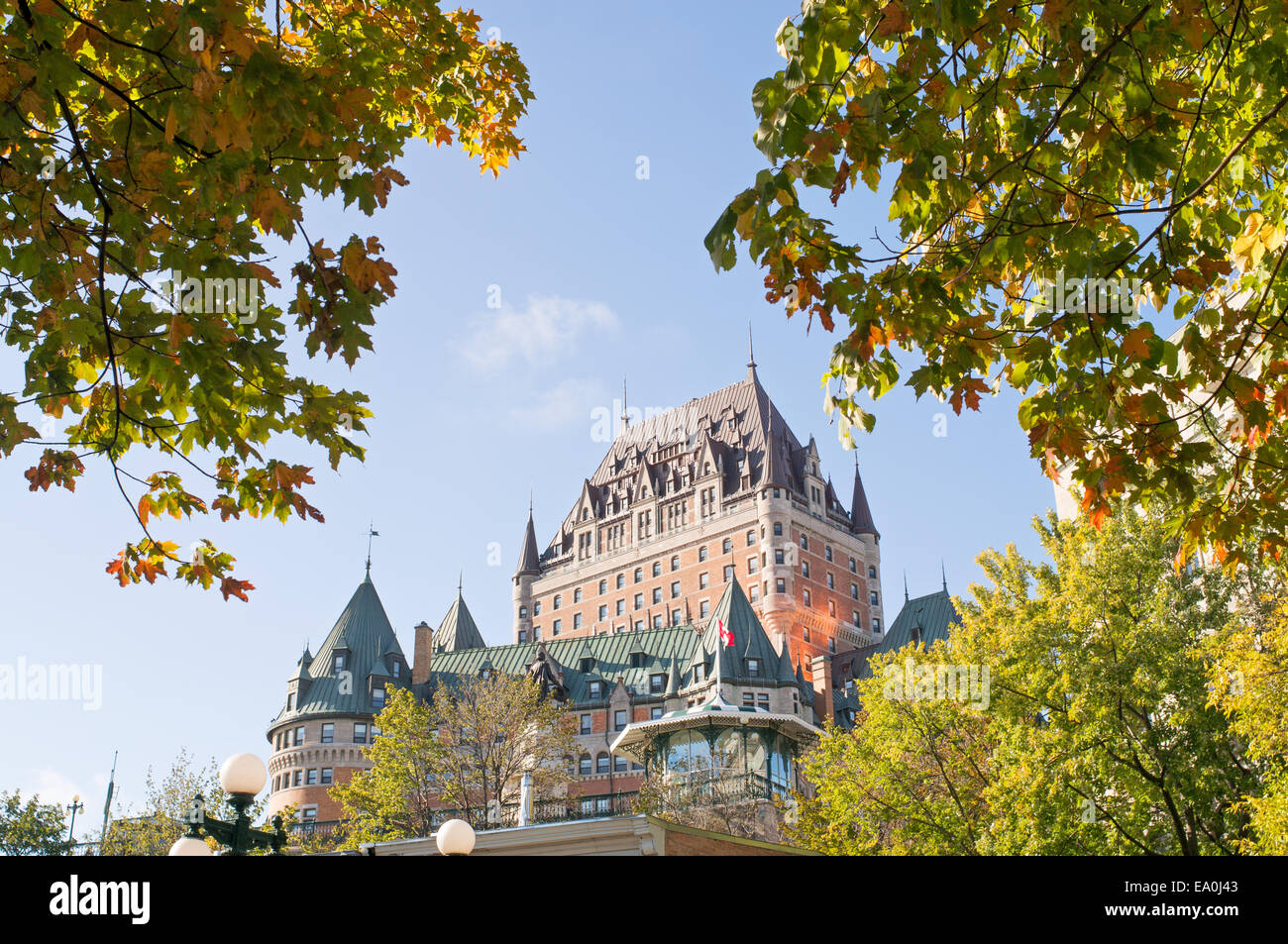 Château Frontenac  in autumn Quebec City, Quebec, Canada - Stock Image