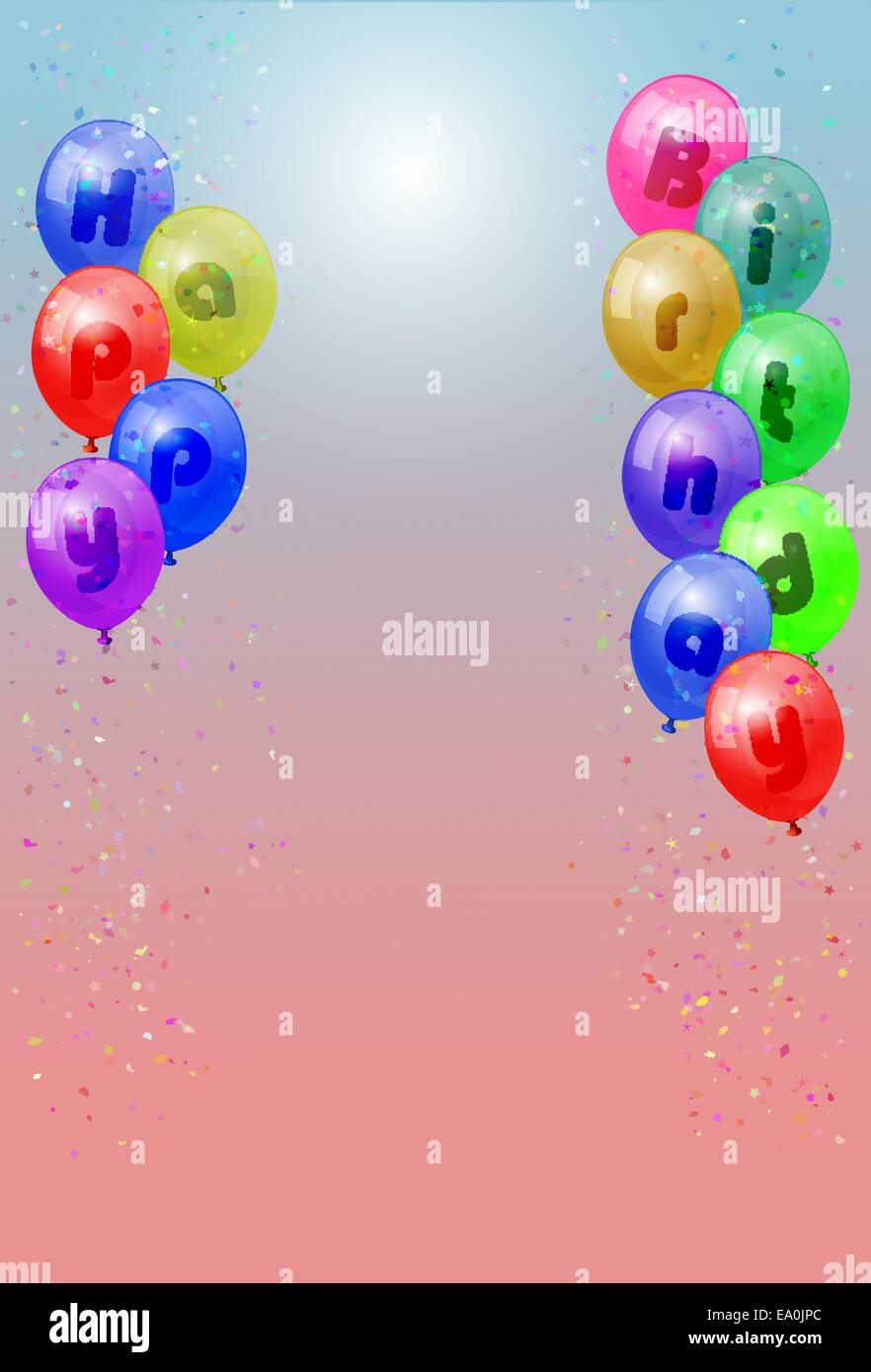 Colourful Balloons Stock Vector Images - Alamy