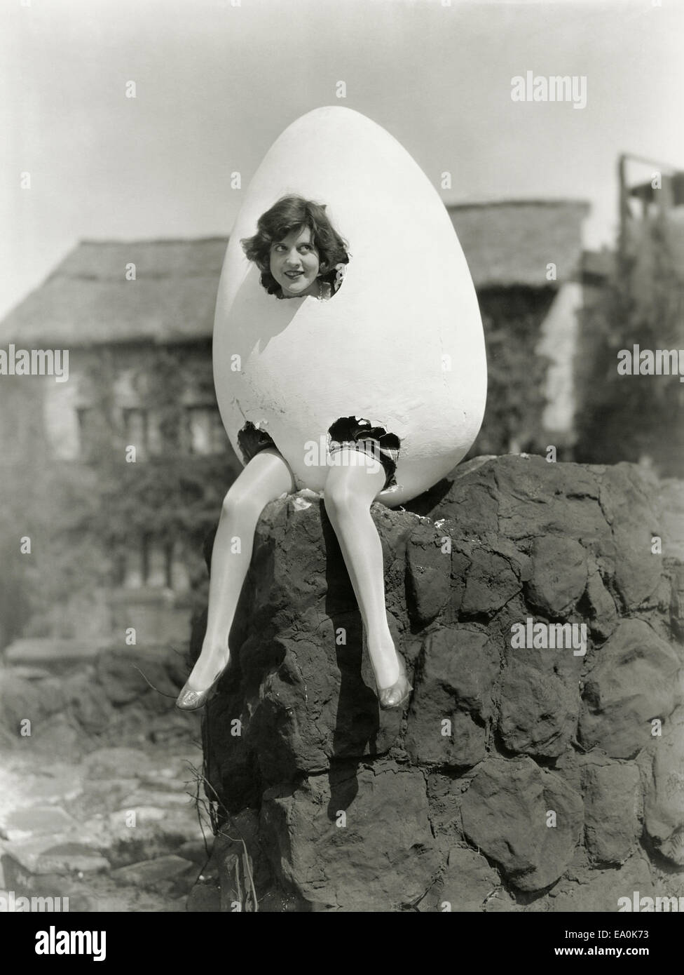 Partially hatched plan - Stock Image