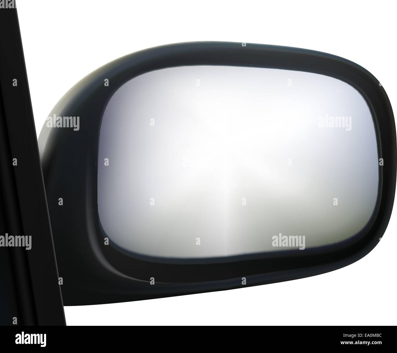 car side mirror on white background - Stock Vector