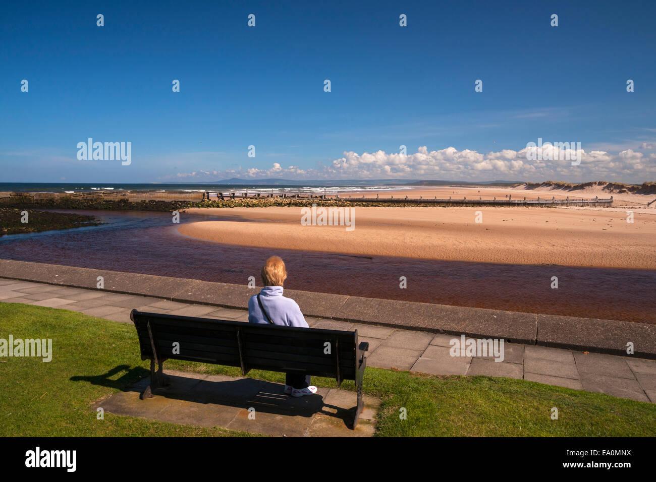 Lossiemouth beach, Murray, Scotland, UK - Stock Image