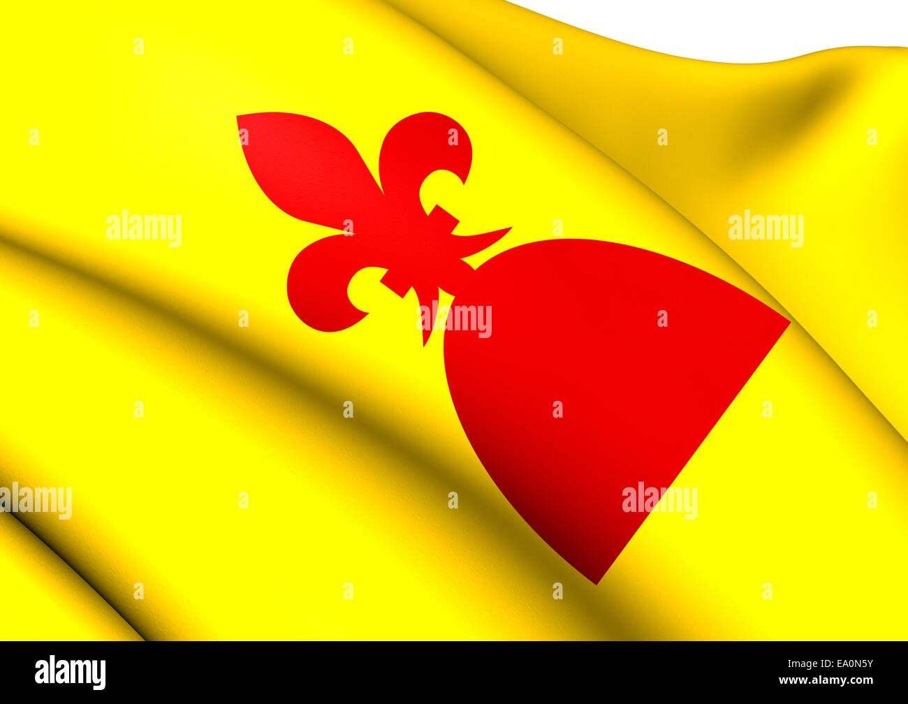 Flag of Mont-Roig del Camp - Stock Image
