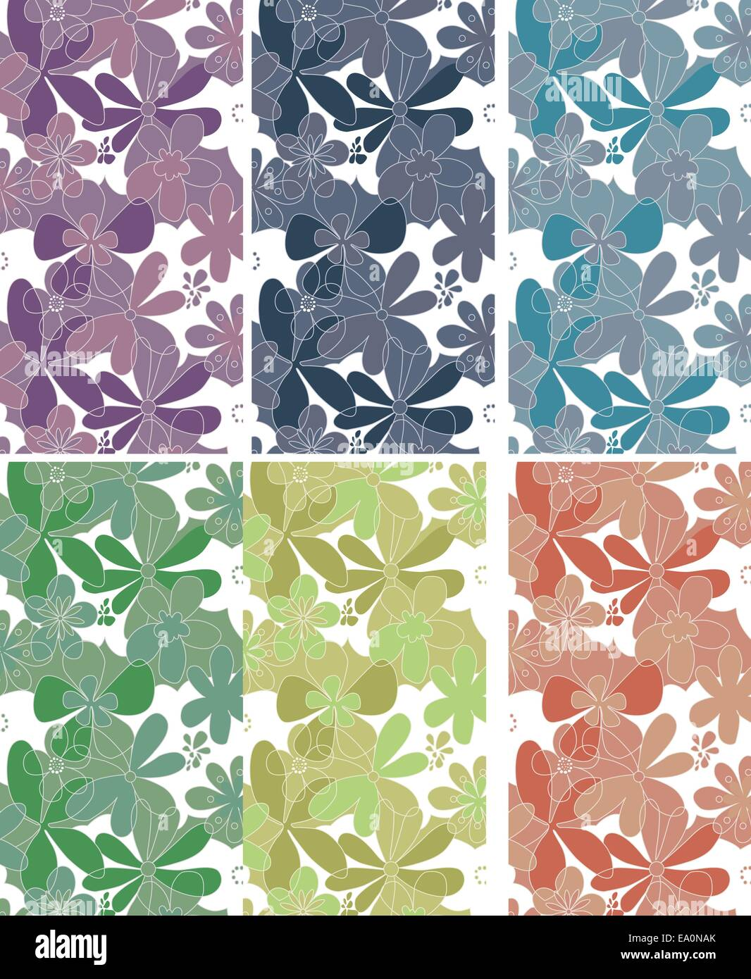 vector flourish wallpaper texture with various shades, eps 8 file, not tile-able - Stock Image