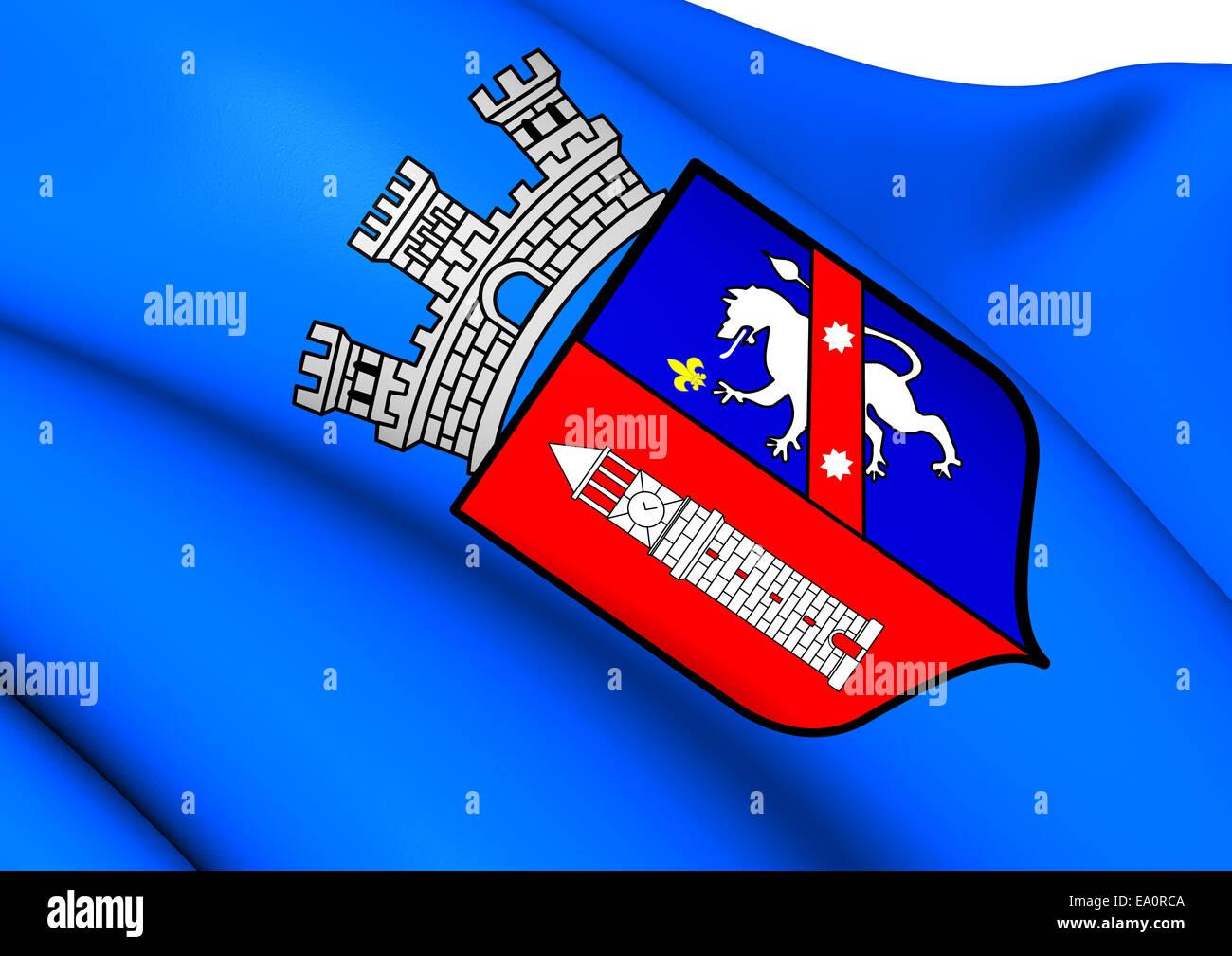 Flag of Tirana - Stock Image