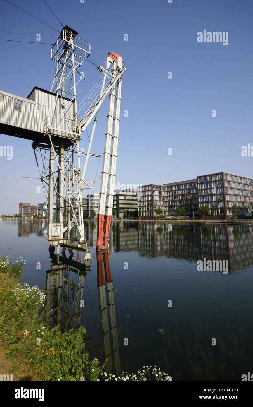 Inner harbor Duisburg, Germany Stock Photo