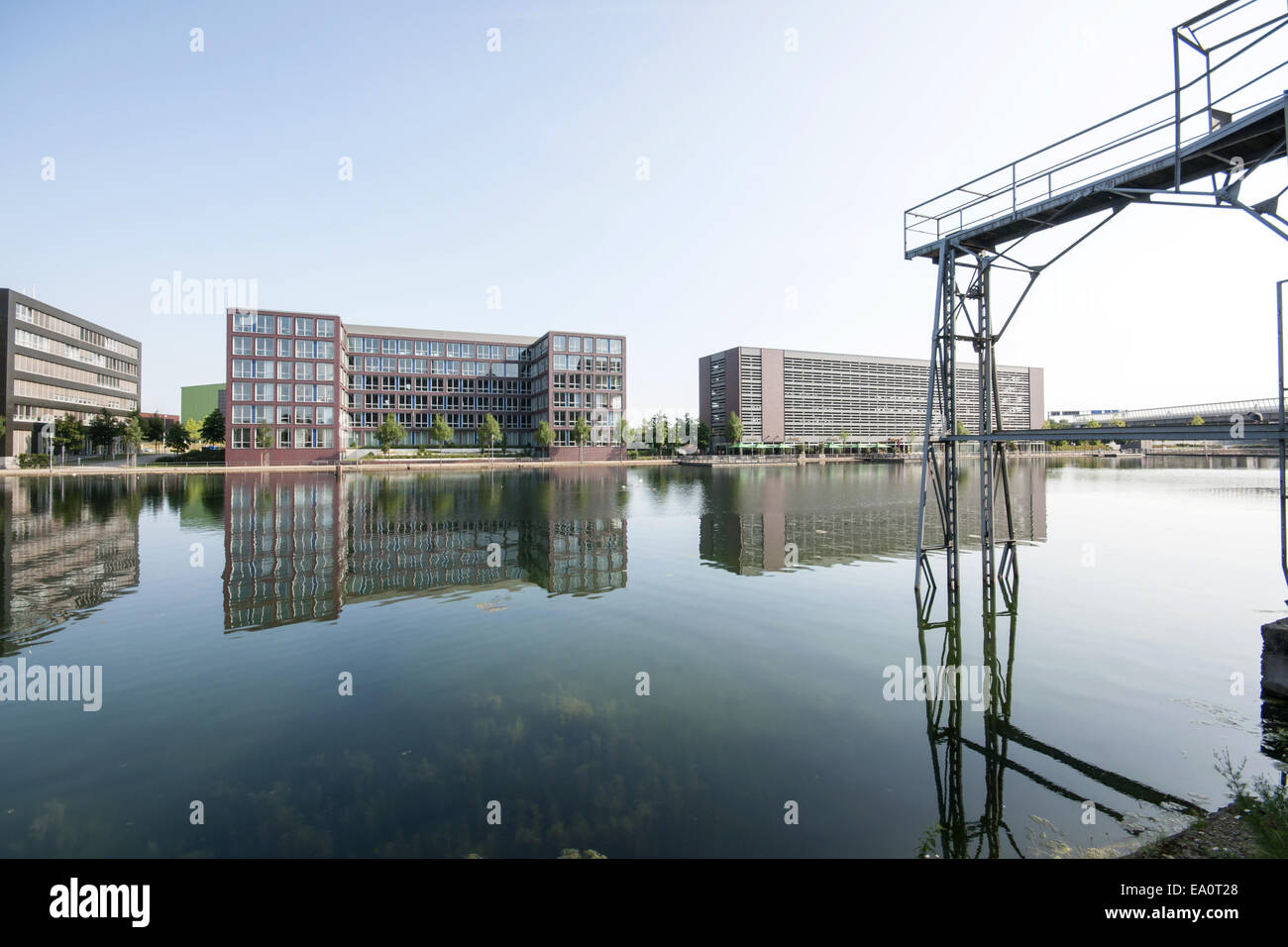 Inner harbor Duisburg, Germany Stock Photo