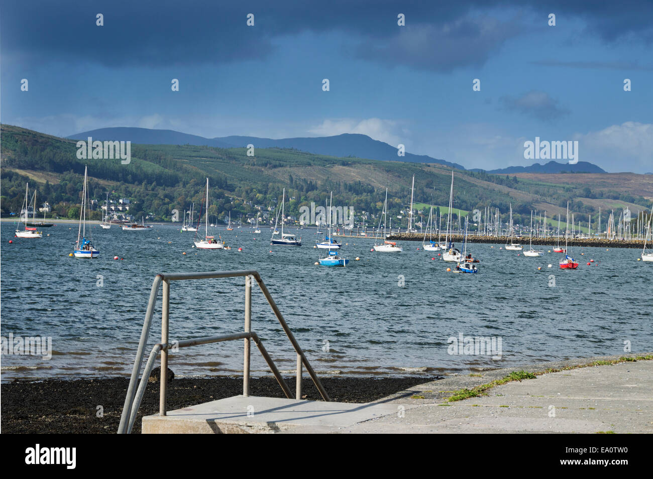 Looking up Gare Loch from  Helensburgh,  Argyll, and, Bute,  Scotland; UK - Stock Image