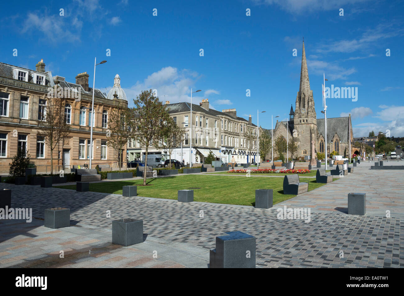 Colquhoun, Square, Helensburgh, Gare, Loch,  Argyll, and, Bute,  Scotland; UK - Stock Image