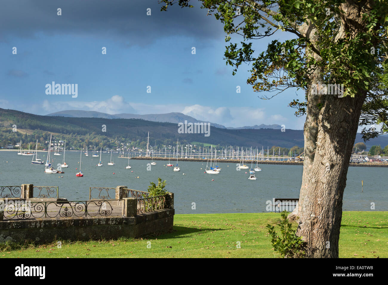 Looking across Gare loch from Kidston Park, Helensburgh, Argyll, and, Bute,  Scotland; UK - Stock Image