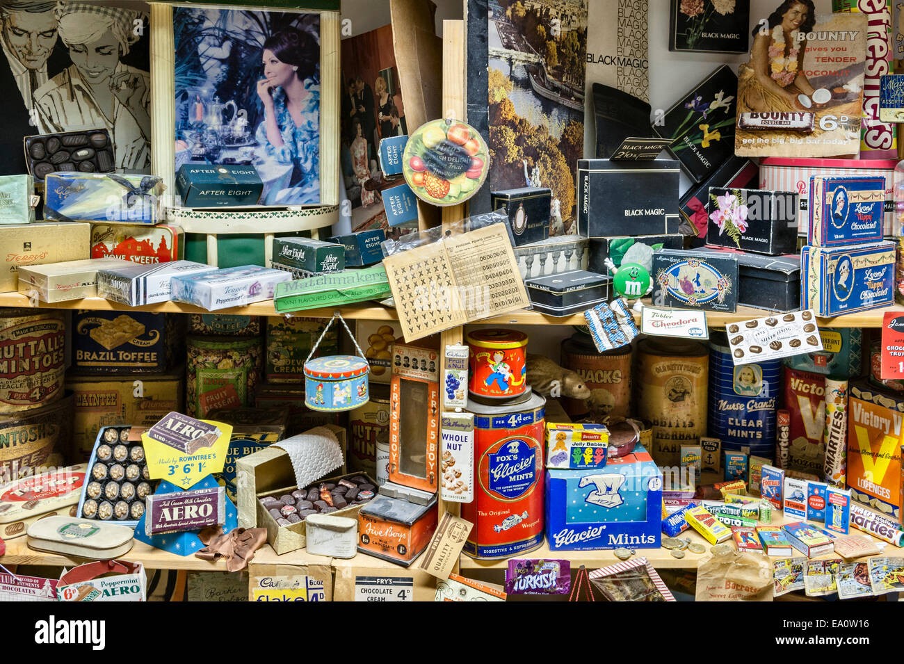 The Land of Lost Content , a museum of 20c British popular culture, Craven Arms, Shropshire. Confectionery (sweets) - Stock Image