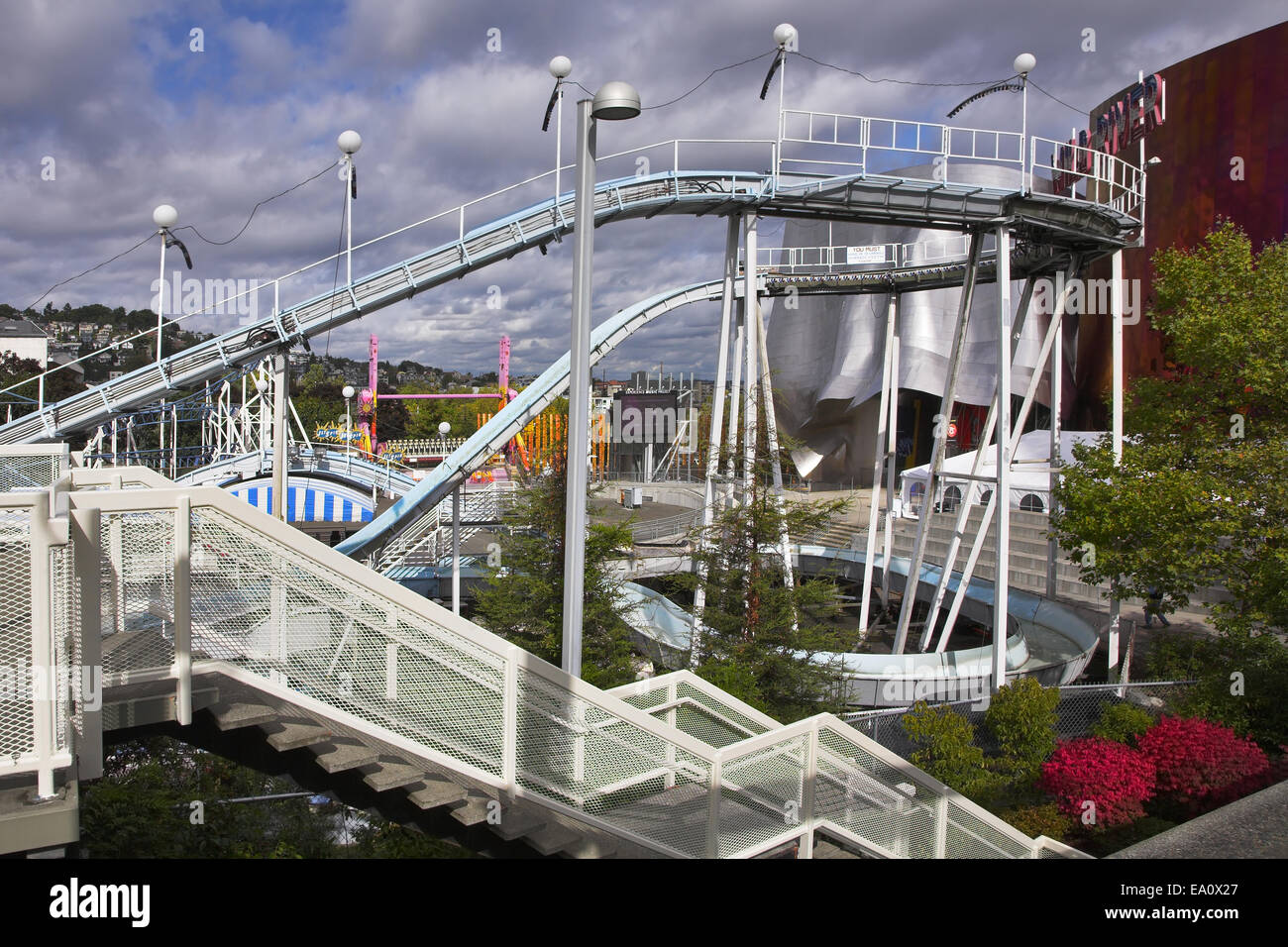 Park of entertainments in Seattle - Stock Image