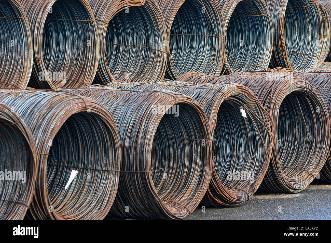 Steel wire coils in storage Stock Photo: 75009185 - Alamy