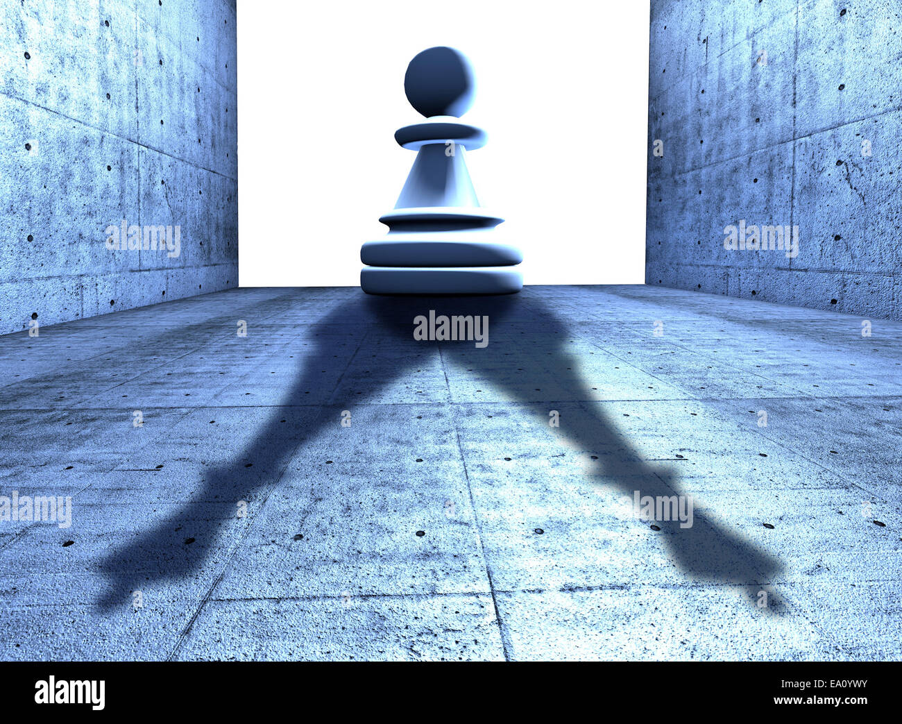 Chess Pawn With The Shadow Of A King Conceptual Image Symbol Of