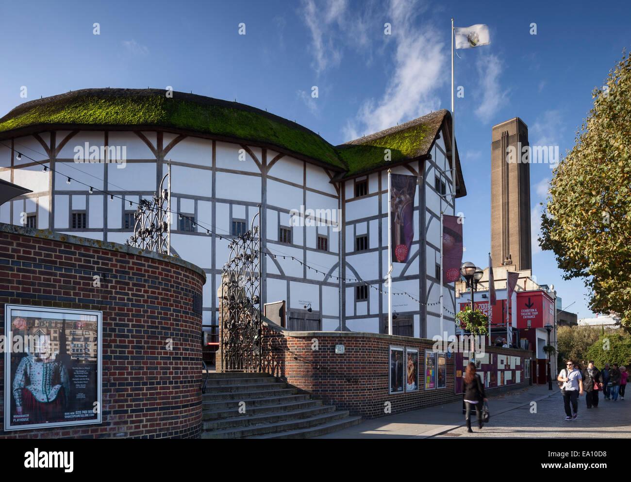 The Globe Theatre, Bankside, Southwark, London, England, UK - Stock Image