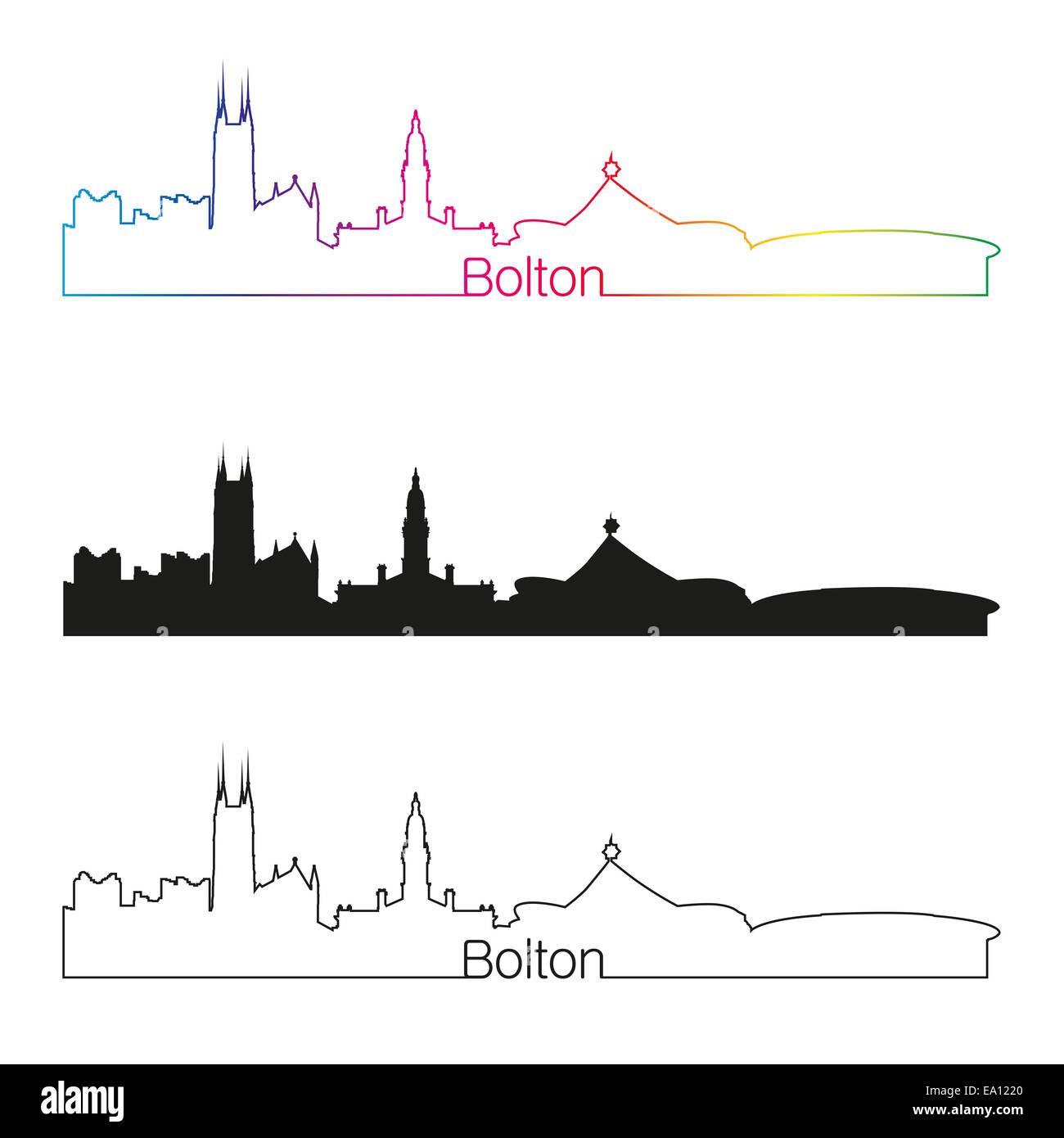 Bolton skyline linear - Stock Image