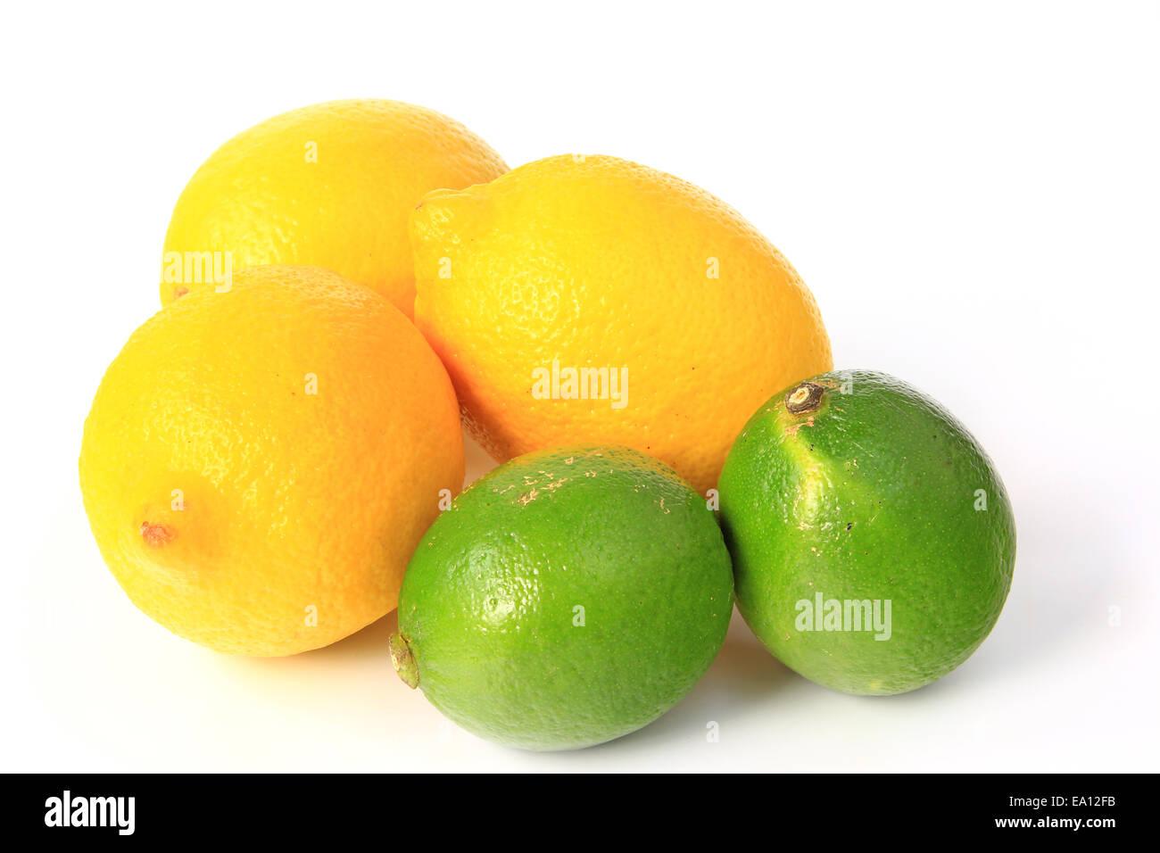 Lemons and limes Stock Photo