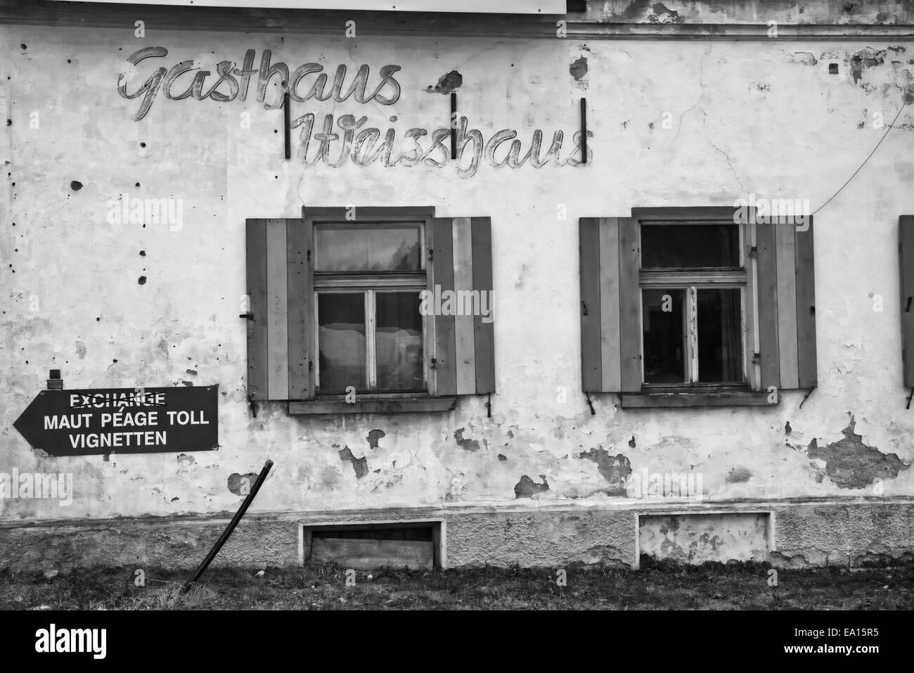 Abandoned inn on the border to Tyrol - Stock Image