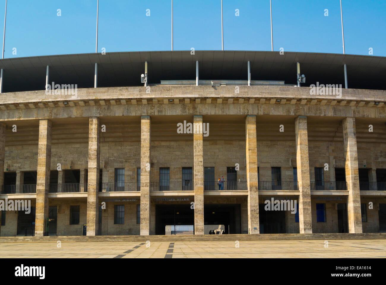 Olympia Stadion, The Olympic Stadium, Westend, Charlottenburg, Berlin, Germany - Stock Image