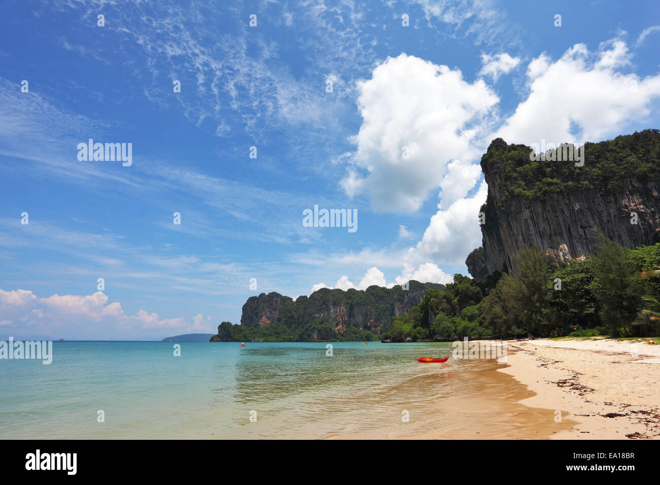 The gentle surf. Thailand, Krabi - Stock Image