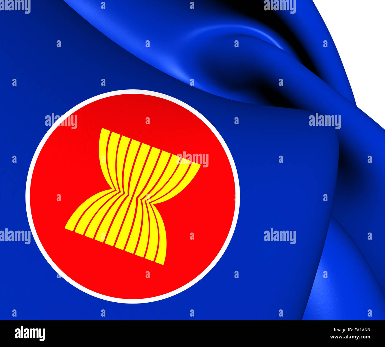 Flag of ASEAN - Stock Image
