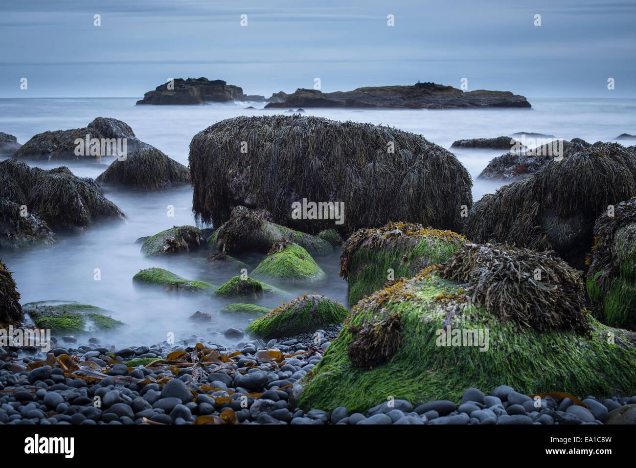 Close up of rocks and sea, Malarif, Snaefellsnes, Iceland - Stock Image