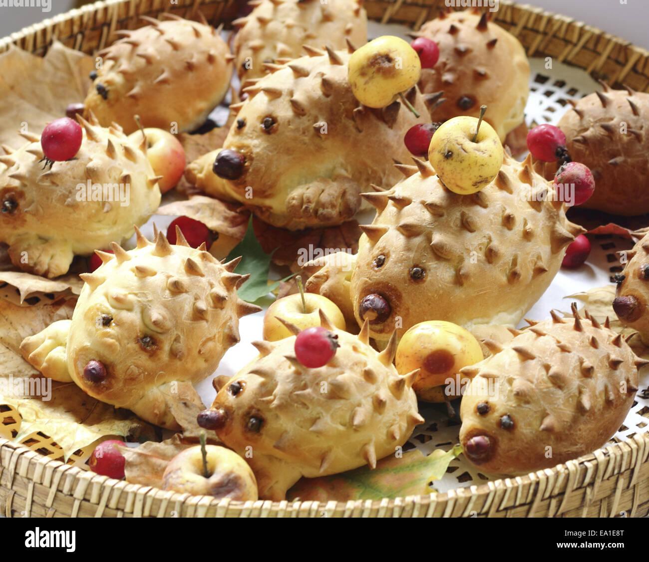 Cookies hedgehogs - Stock Image