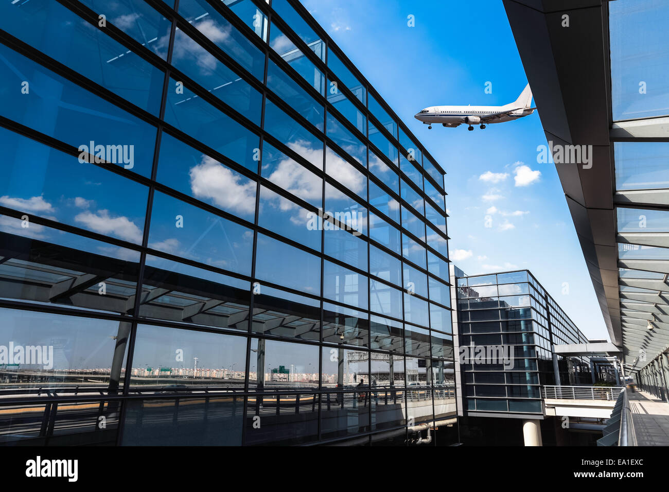 modern airport terminal in shanghai Stock Photo