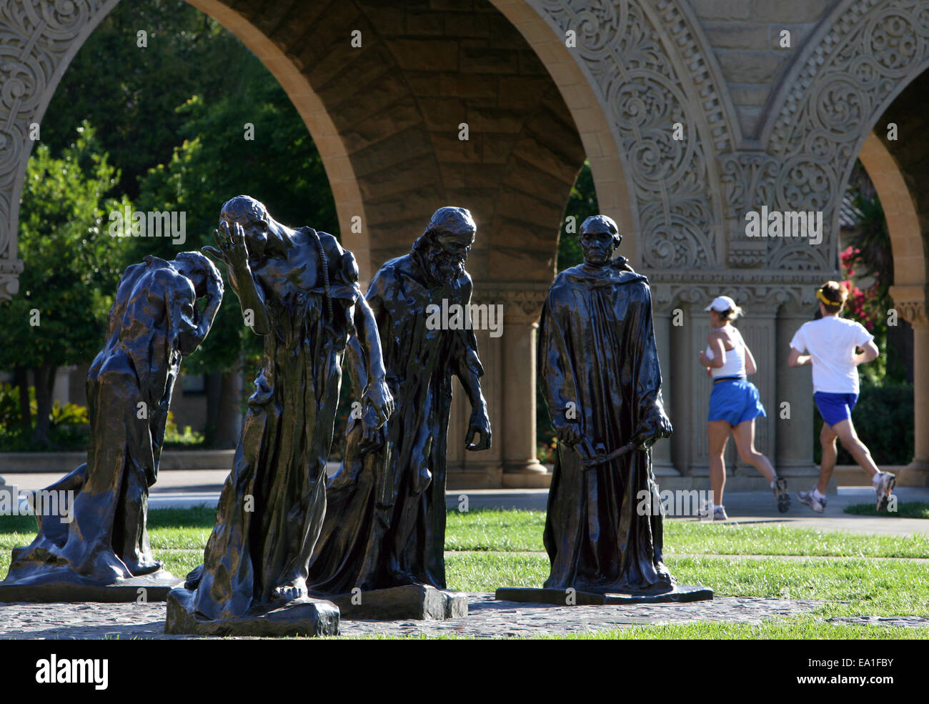 'The Burghers of Calais' bronze sculptures by Auguste Rodin at Stanford University in Palo Alto, California, - Stock Image